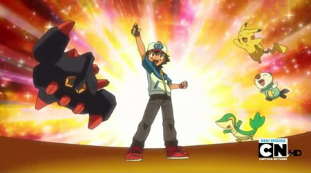 That Night In The Pokmon Centre Cilan And Iris Are Happily Complimenting Ash On His Victory Nurse Joy Calls Him Over For Healed Up Asks